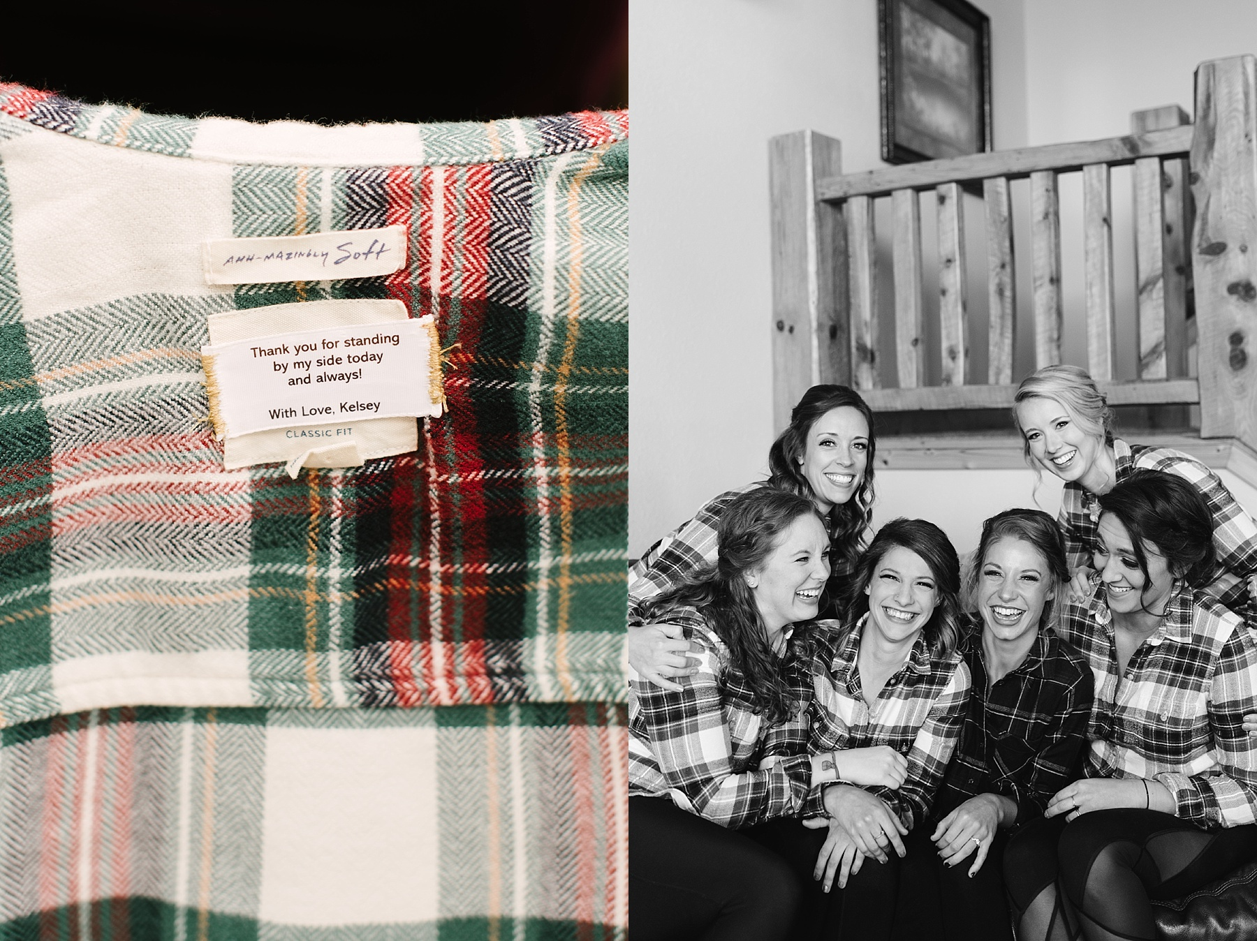 personalized bridesmaids flannel