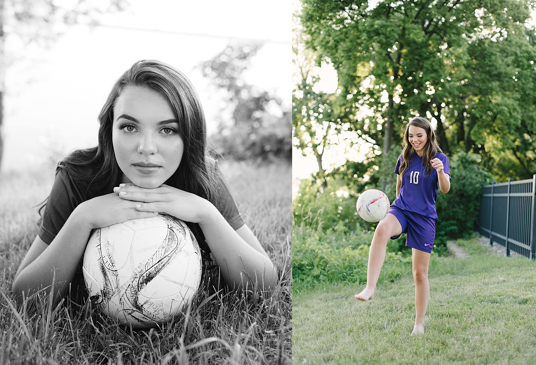 soccer player senior photos