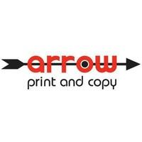 arrow print and copy logo