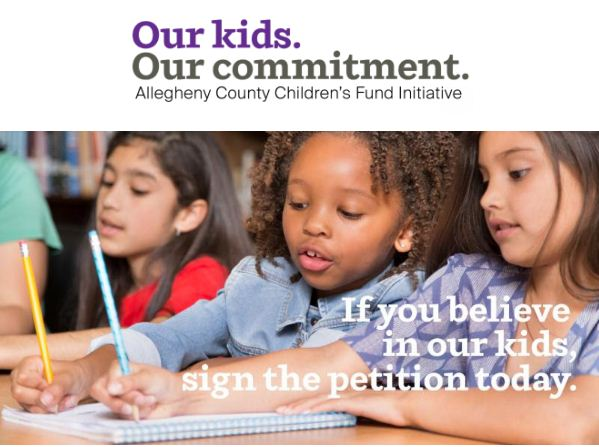 Support Our Children's Continued Learning and Education: Sign the Allegheny County Children's Fund Initiative Petition Today!
