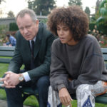 """Dr. Joseph Oswald """"Dr. Oz"""" played by the incomparable Stellan Skarsgaírd talks with Frankie (Halle Berry) about recent discoveries in """"Frankie & Alice."""""""
