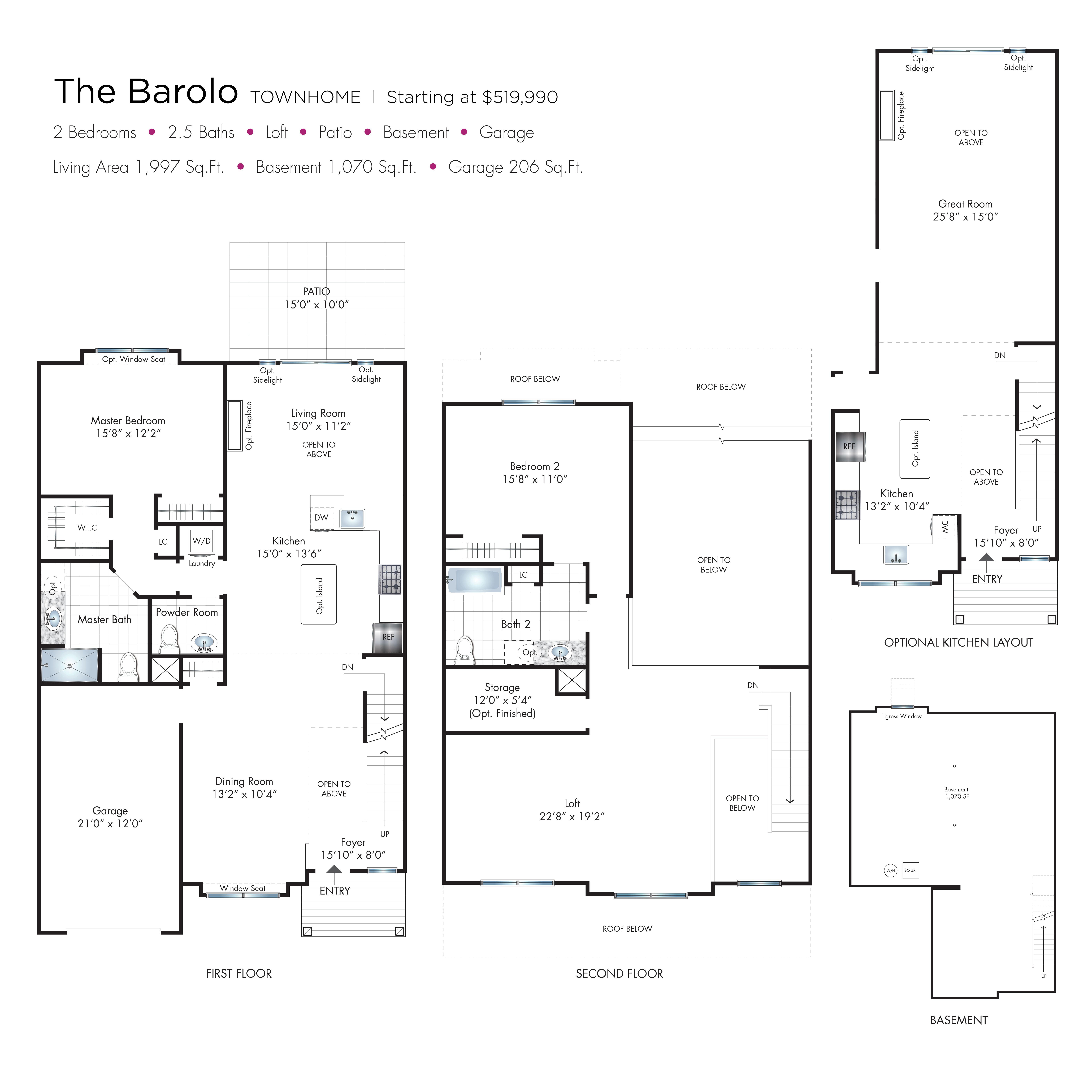 Barolo Townhome Floor Plan