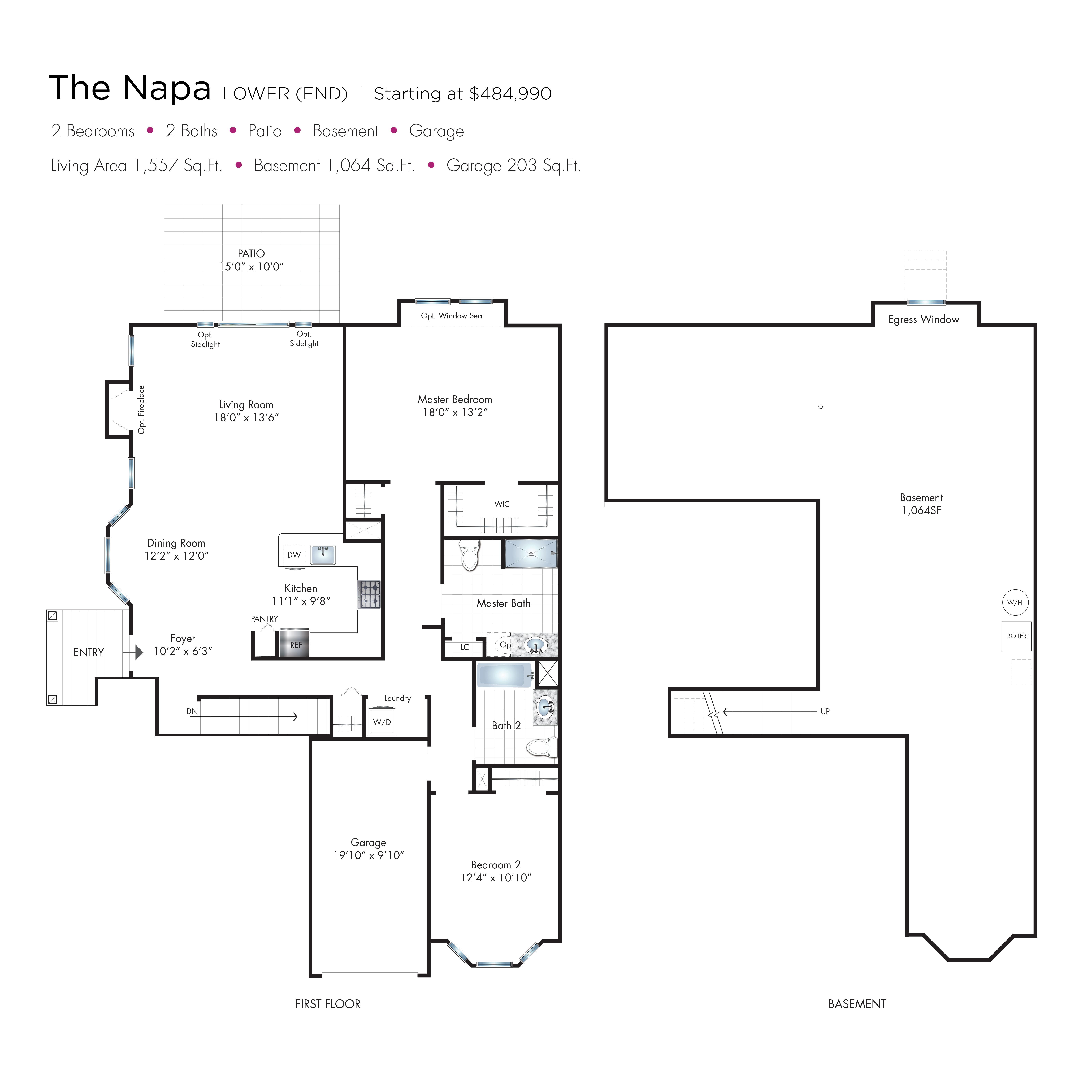 Napa Townhome Floor Plan