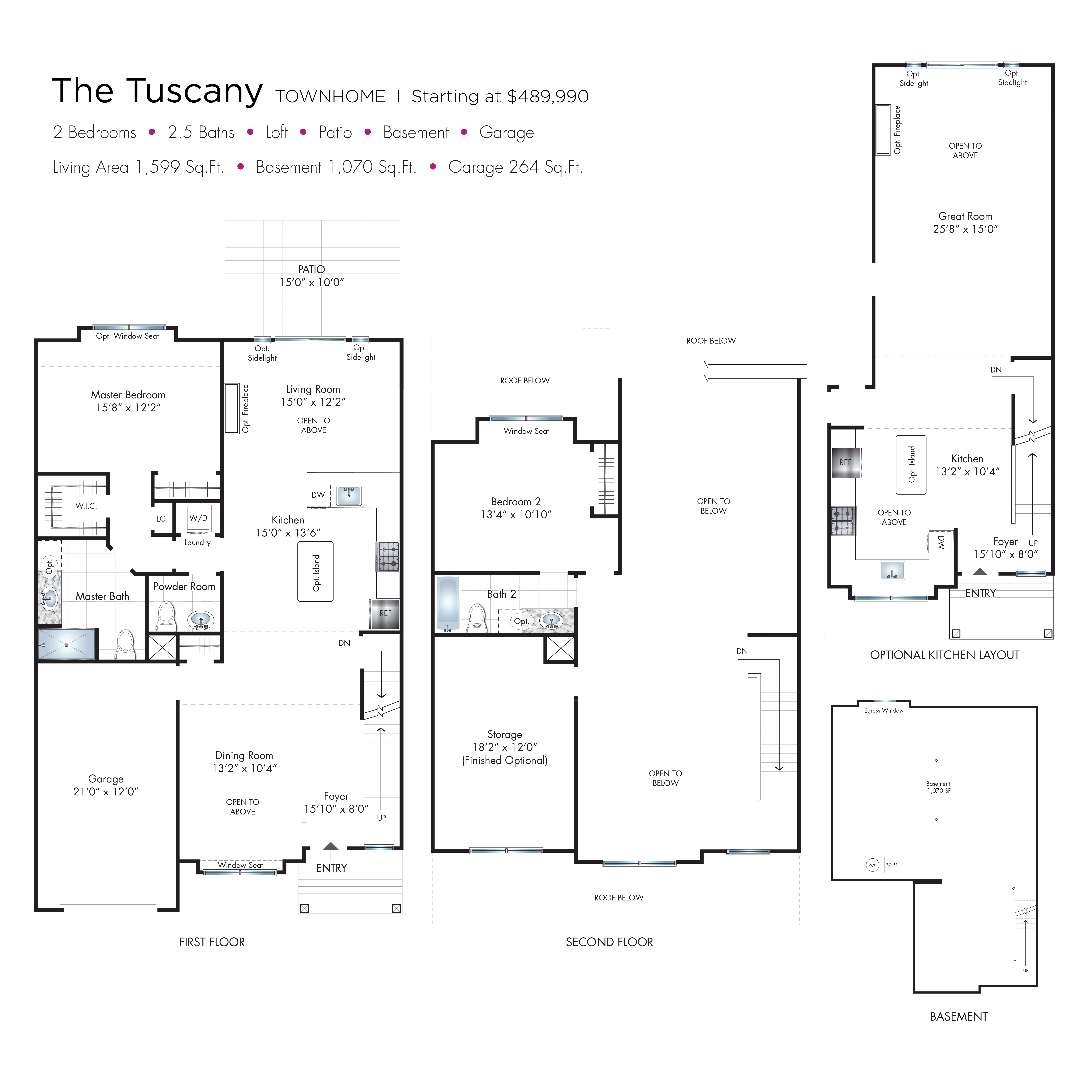Tuscany Townhome Floor Plan