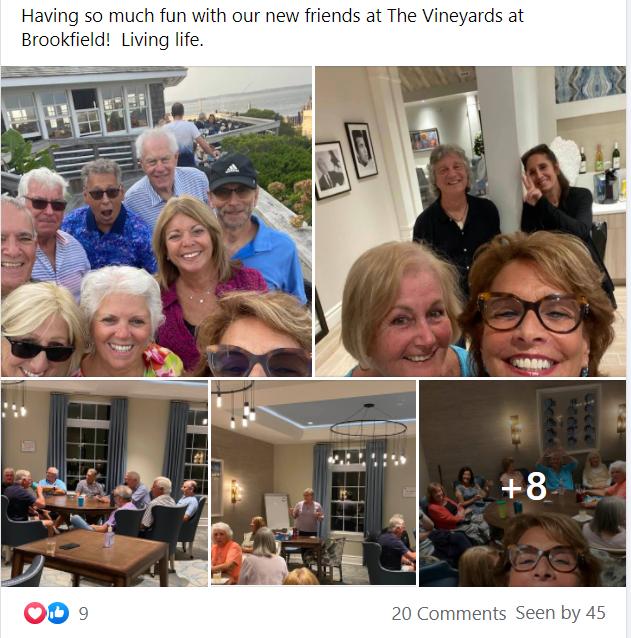 New Friends At Vineyards Brookfield Facebook Post