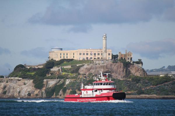 Alcatraz Island as seen from Bay Voyager