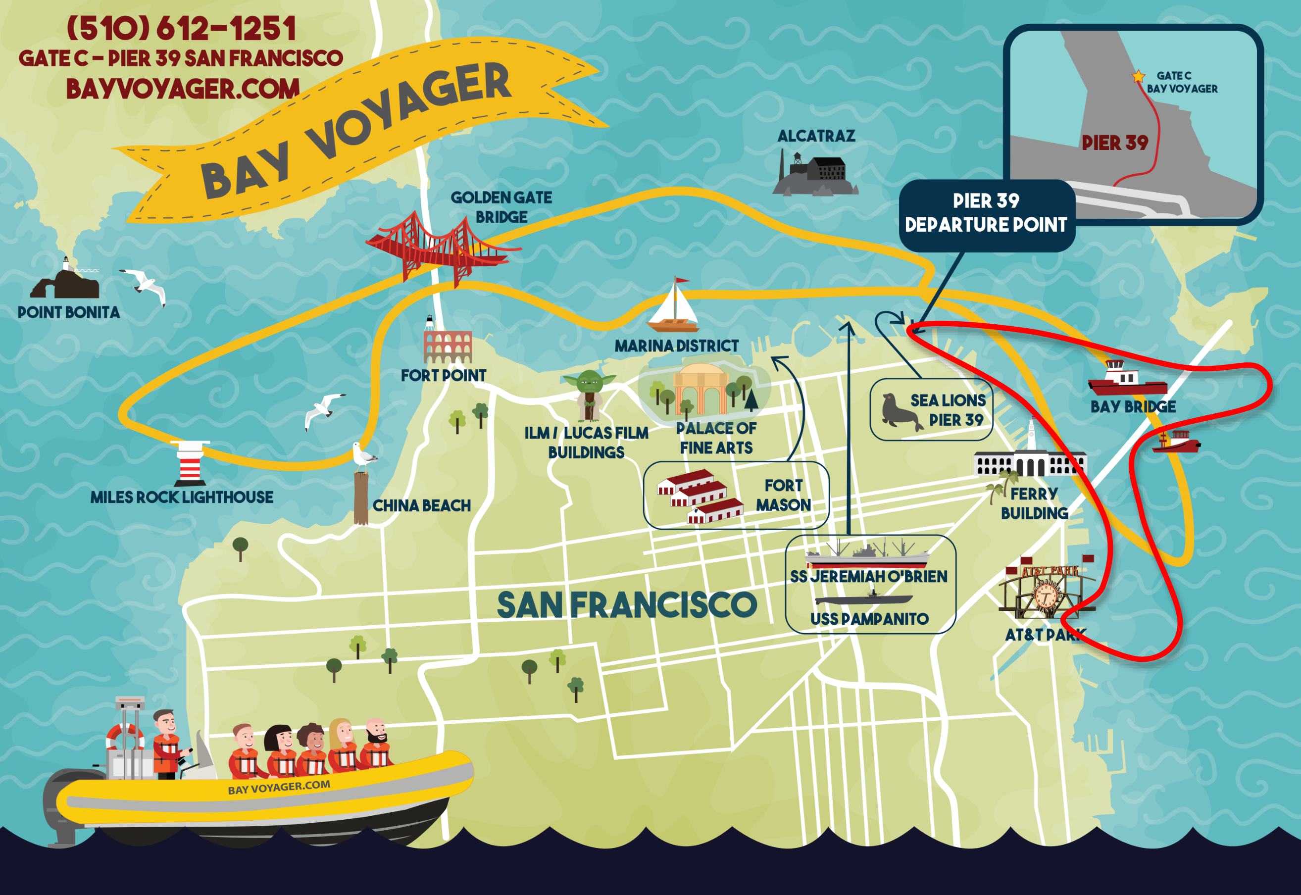 45 South Bay Voyager Map 2021 2