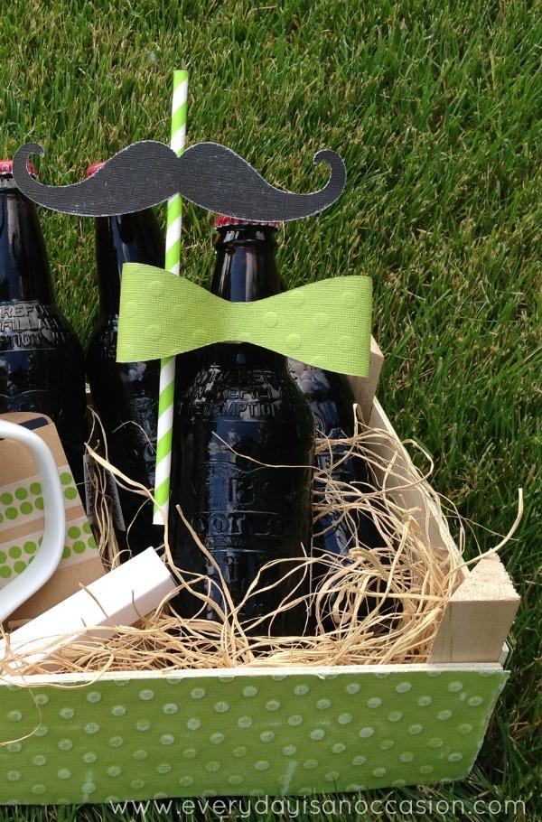 Decorative Mustache Root beer bottle