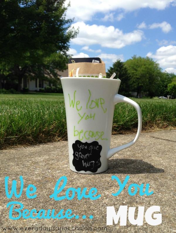 We love you because mug