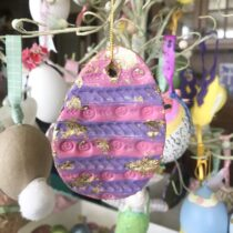 Air Dry clay Easter Ornament