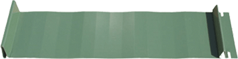 Graphic of a Standing Seam style of Metal Roofing