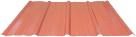 Graphic of a Tuff-Rib Panel of Metal Roofing