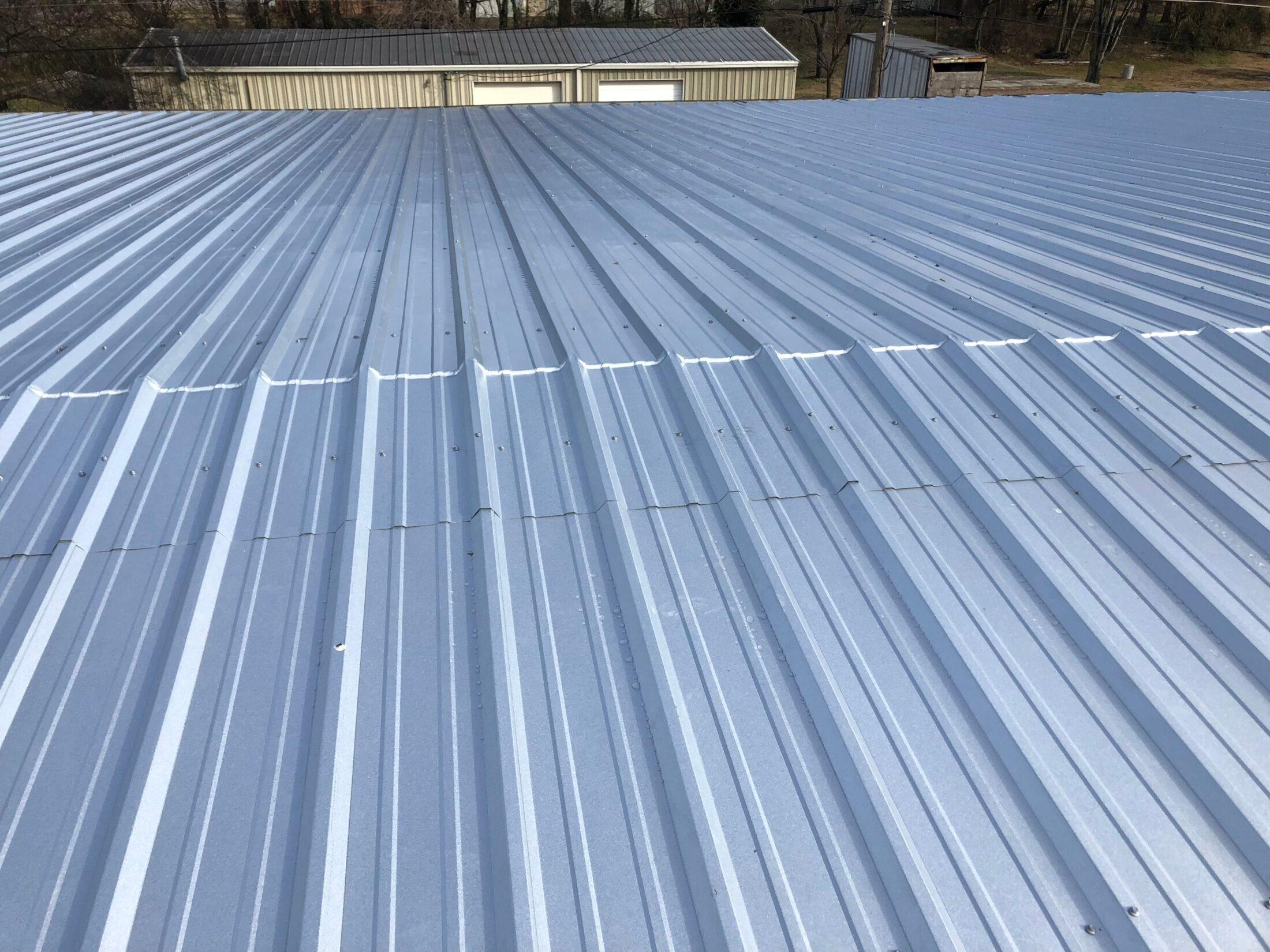 Photo of Metal Roof on a commercial building in Pulaski
