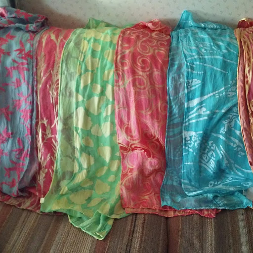 dyed scarves