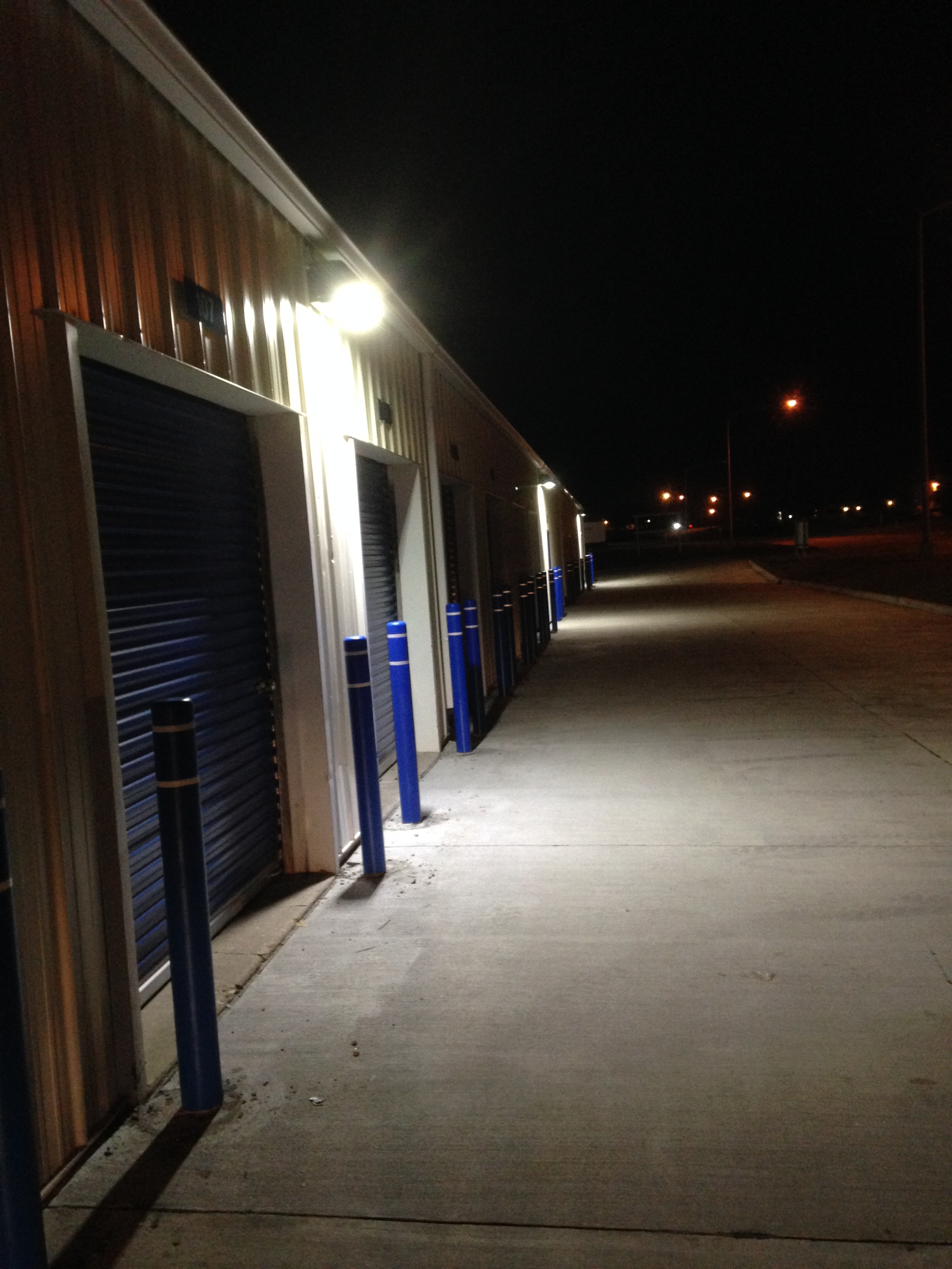 QC Storage offers this Large Garage Space with 8' x 8' Roll-up Door Interior and Exterior Lighting!