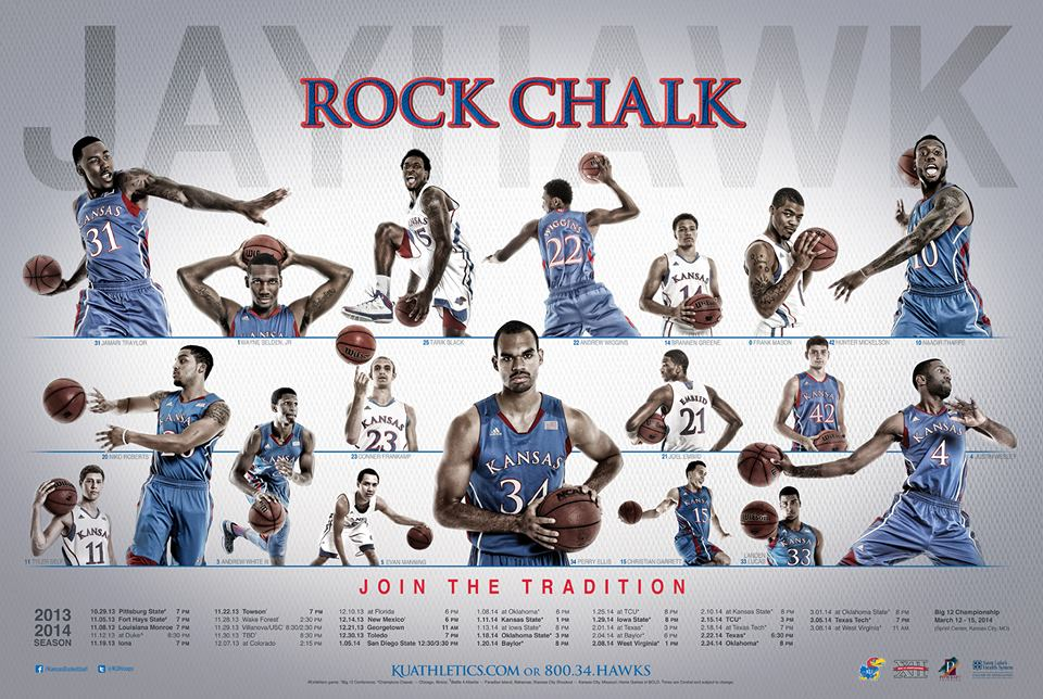 2013-2014-Kansas-Basketball-Poster