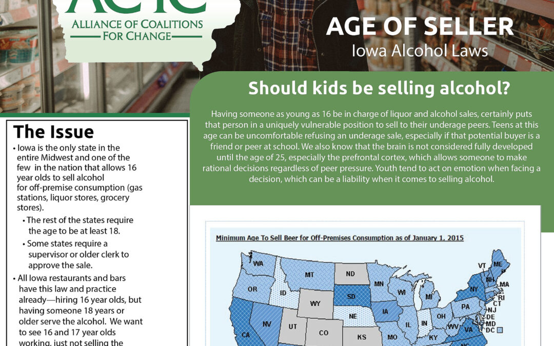 Age of Seller–Iowa Alcohol Laws