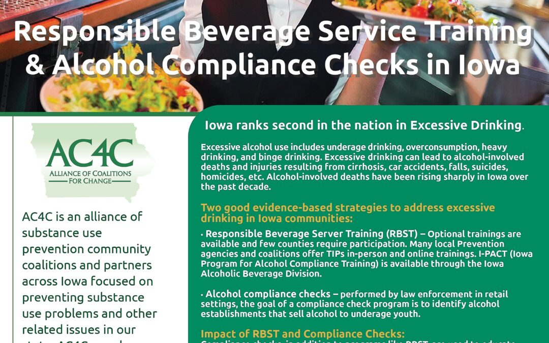 Responsible Beverage Service Training and Alcohol Compliance Checks In Iowa
