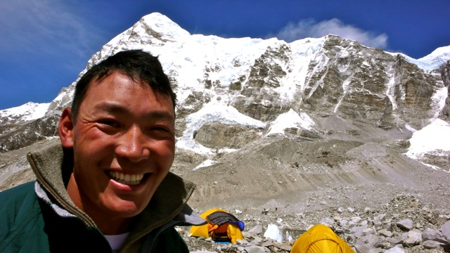 A Man at the Everest Base Camp