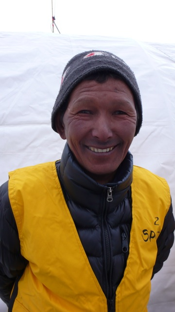 A Photo of a Man in the Everest Base Camp