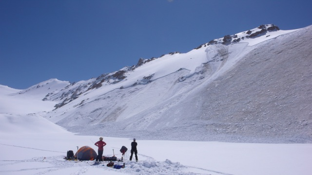 People Camping Out in Mt. Everest