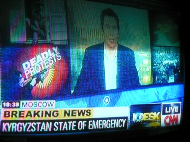 A TV Report of Kyrgyzstan's State of Emergency