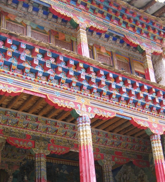 Architectural Details of a Temple