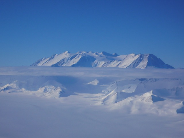 A Mountain and Form of Water in Antarctica