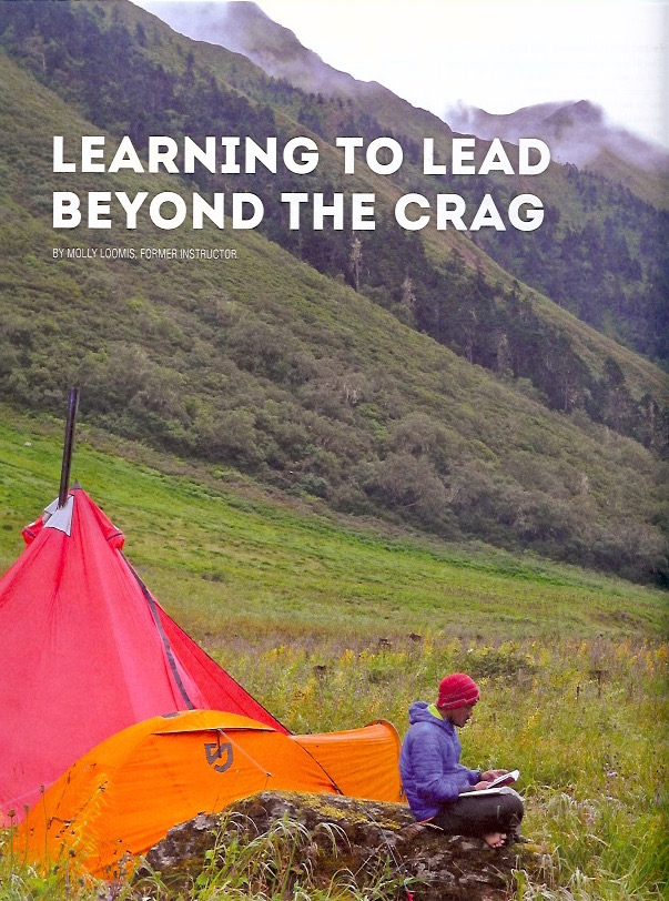 """Cover of """"Learning to Lead Beyond the Crag"""" by Molly Loomis"""