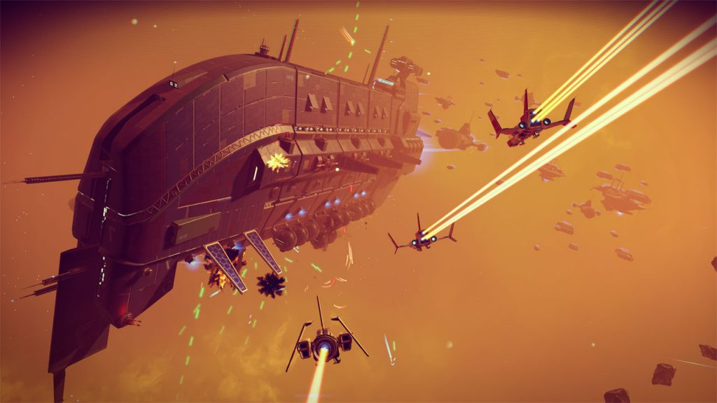 no man's sky, no man's sky space battle, no man's sky on xbox one, no man's sky news, no man's sky update, gigamax games, gigamax, gigamax news