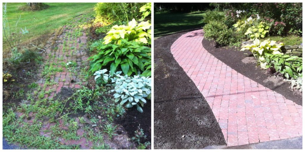brick walk before and after