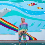 DIY Rainbow Wavy Jeans