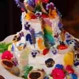 Rainbow Floral Wedding Cake Experimentation!