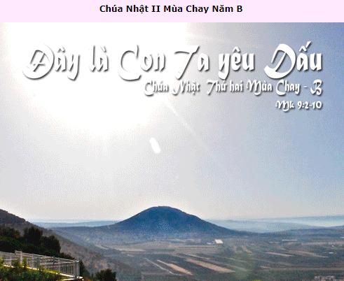 Suy Niệm - Chúa Nhật 2 Mùa Chay - February 28 - Năm B  - Daily Mass Thánh Lễ Online