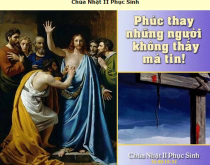 Suy Niệm - Chúa Nhật 2 Phục Sinh - April 11 - Năm B - Daily Mass Thánh Lễ Online