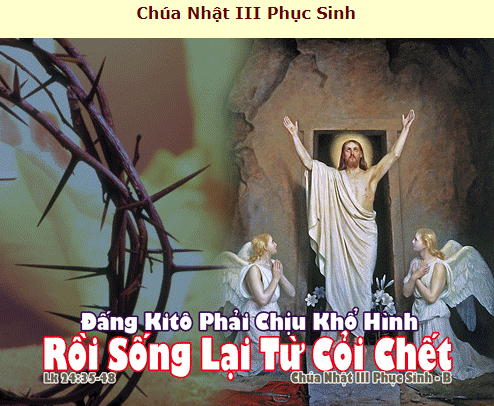 Suy Niệm - Chúa Nhật 3 Phục Sinh - April 18 - Năm B - Daily Mass Thánh Lễ Online