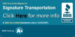 BBB, Charlotte Limousine, Airport Transportation, Airport limo, Signature Transportation