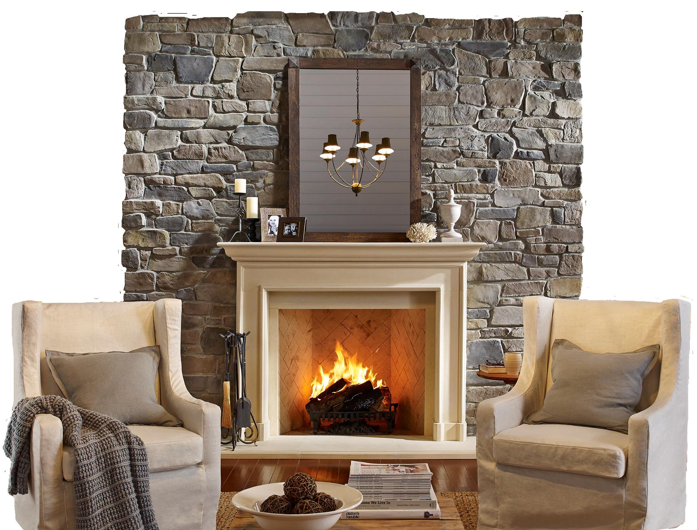 Eagle Stone Fireplace