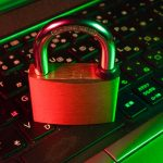 A padlock on top fo a keyboard symbolizing Online Security