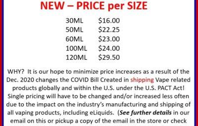 New Price per Size