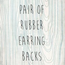 Soft Rubber Earring Backs