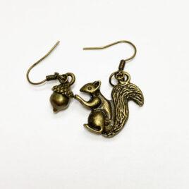 Squirrel/Acorn Earrings