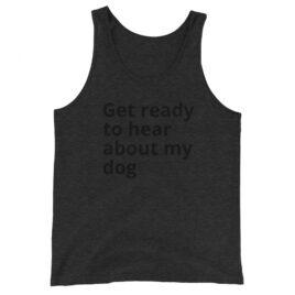 Dog tank in Charcoal-Black