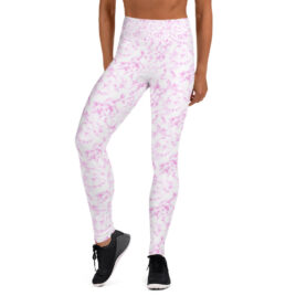 Pink Marble Yoga Leggings