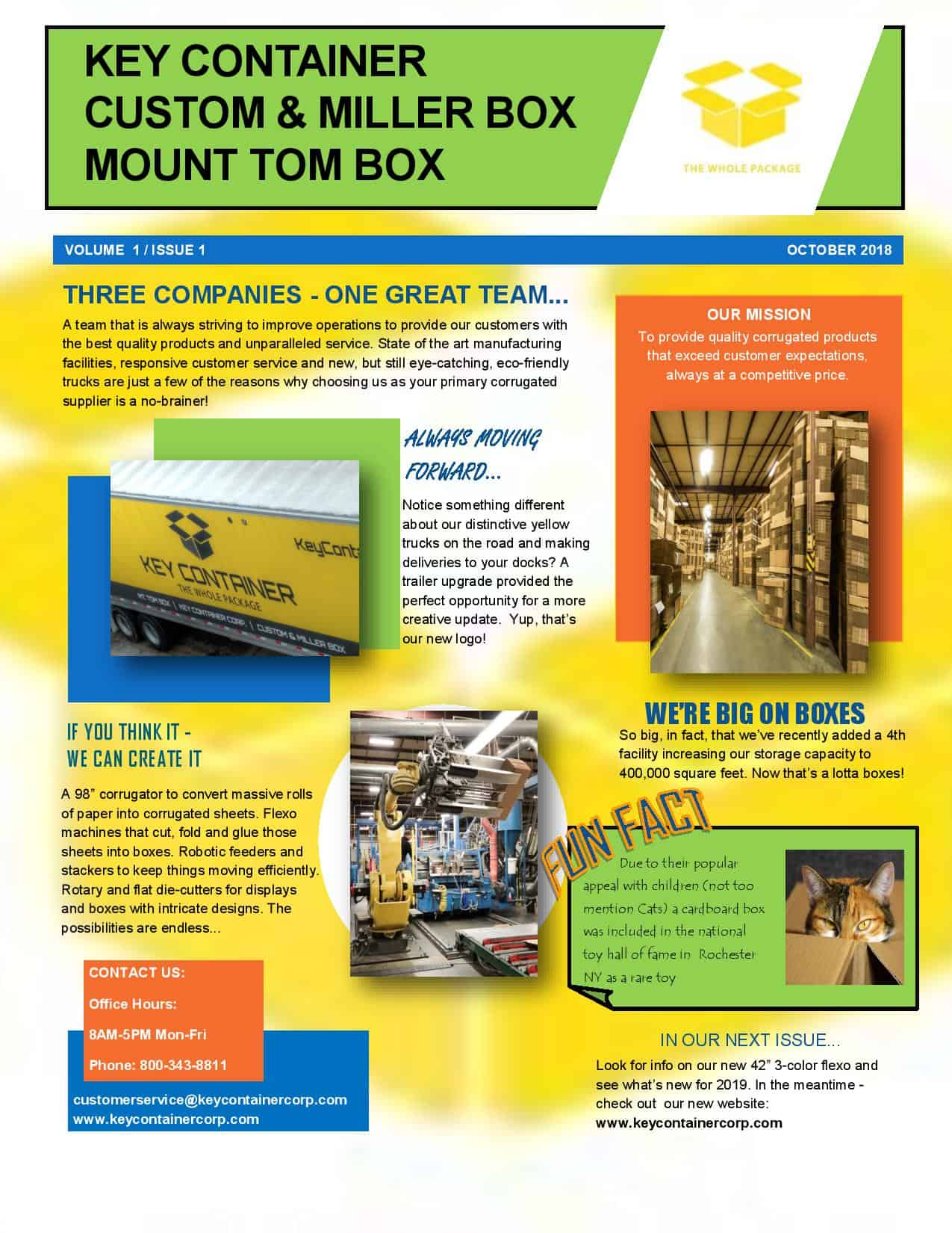 Key Container Newsletter Vol 1