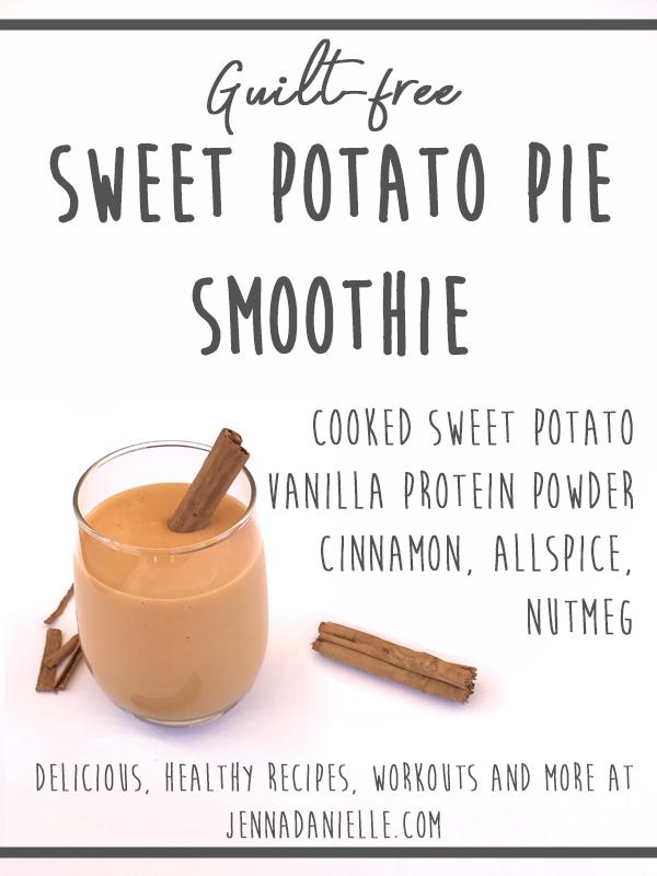 Sweet Potato Pie Smoothie recipe! Antioxidants, vitamin A and lots of tasty goodness! ZERO sugar! ZERO dairy!