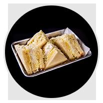 pineapple heese jam sandwich