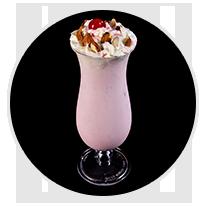 rose badam milkshake