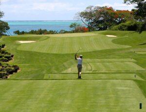 golf, man, tee