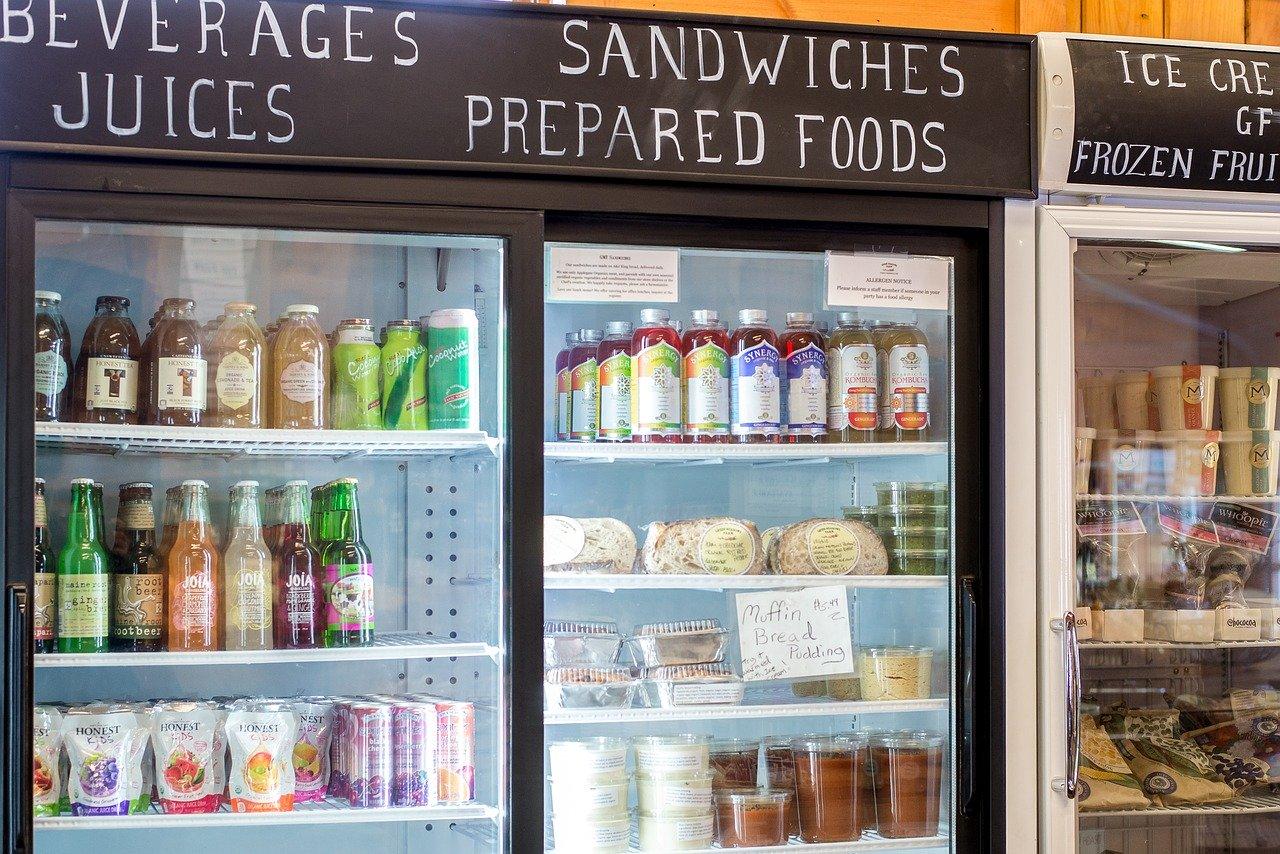 grocery, food, bottles